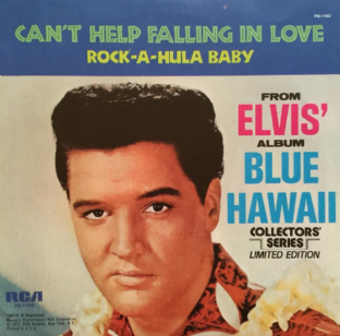 "Elvis Presley With The Jordanaires - Can't Help Falling In Love (7"") (EX+/EX)"